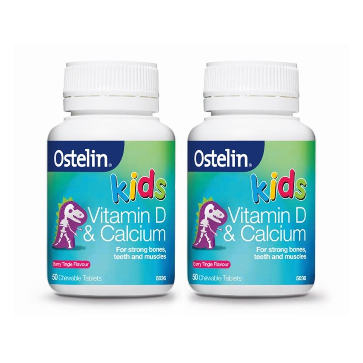 Ostelin 儿童钙+维生素D咀嚼片 50片*2