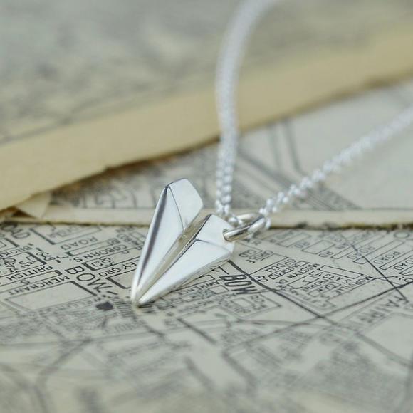 【包邮装】Lily charmed 银色纸飞机项链 1条