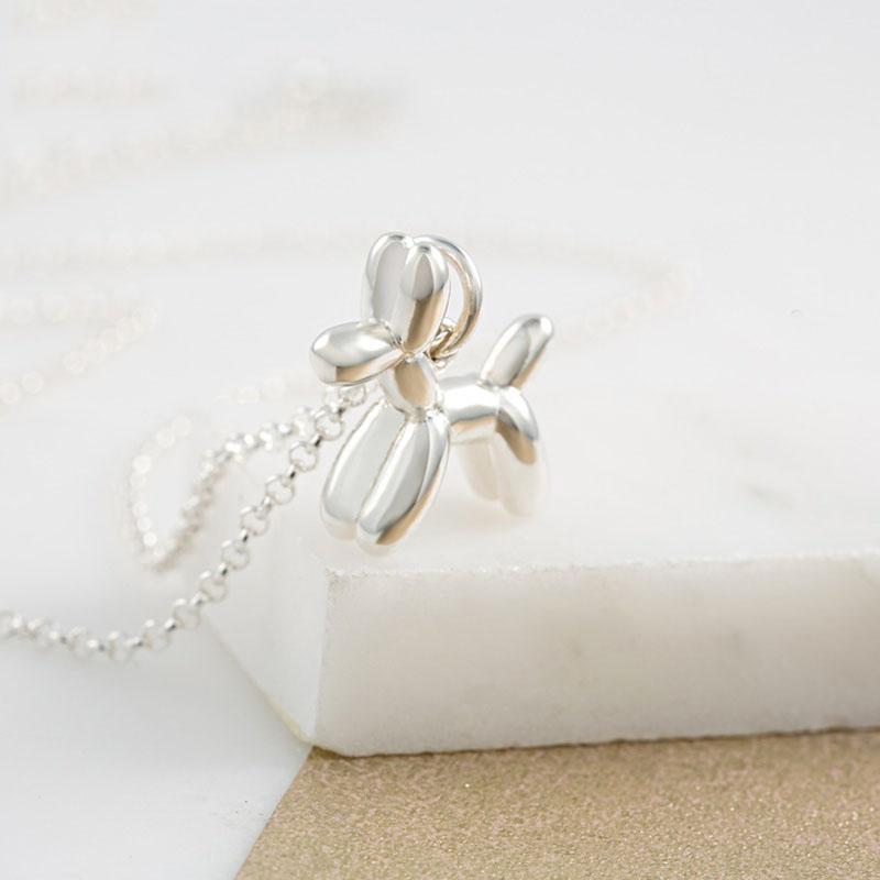 Lily charmed 银色气球狗项链